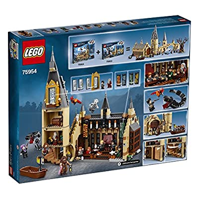 LEGO Harry Potter Hogwarts Great Hall 75954 Building Kit and Magic Castle Toy, Fantasy Creatures, Hermione Granger, Draco Malfoy and Hagrid (878 Pieces): Toys & Games