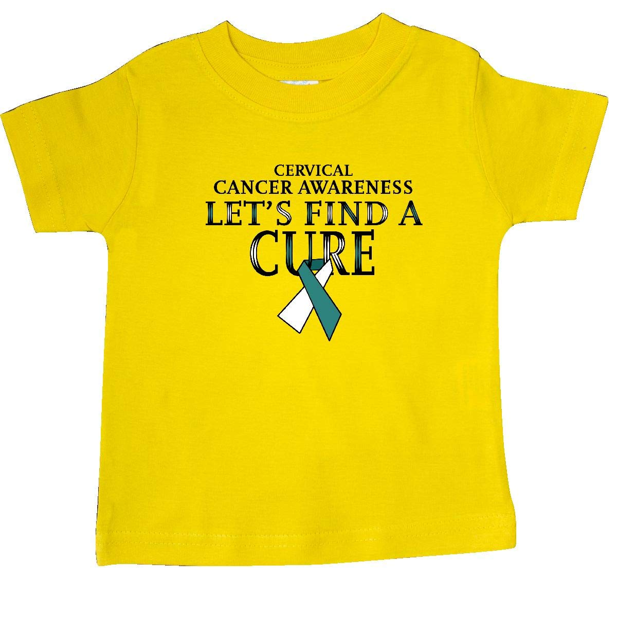 Cervical Cancer Awareness Baby T-Shirt inktastic Lets Find a Cure