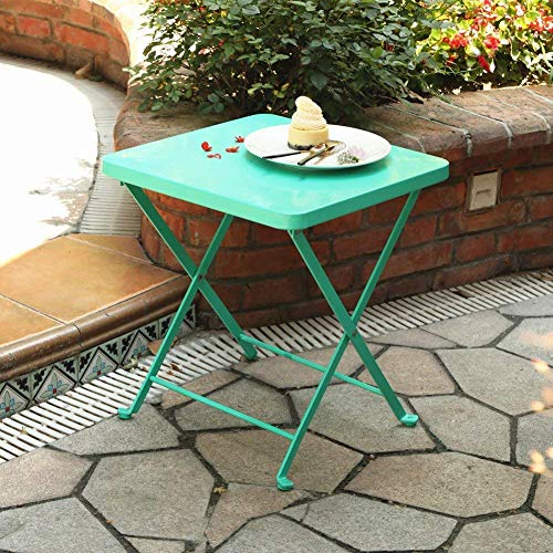 PHI VILLA Folding Side Table Patio Table Outdoor Furniture Sets, Perfect for Beach, Camping, Picnics