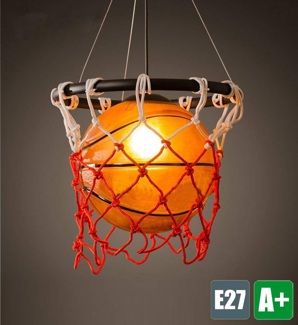 Kinderzimmer Pendelleuchte Basketball Kreative Pendelampe Hochwertigemäßcryl Schatten Hängelampe Modern Innen Hängeleuchte Restaurant Beleuchtung Schlafzimmer Lampe Cafe Leuchte 1-Flammig E27-Fassung