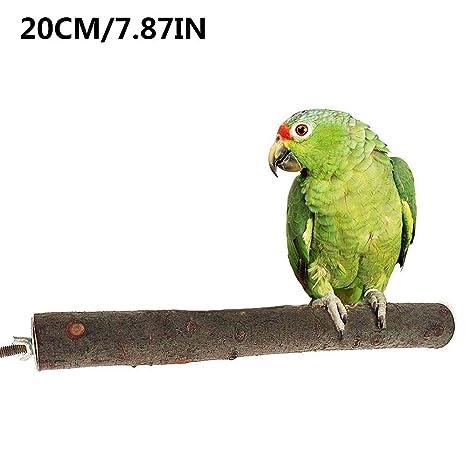 lossomly Palo para Pájaros Cuelga La Juguete para Pájaros Natural ...