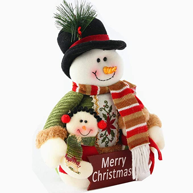Details about  /2XChristmas Ornament Gift Santa Claus Snowman Reindeer Toy Doll Hang Party Decor