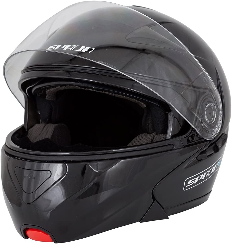 Spada Reveal Flip Front Motorcycle Helmet XS Black