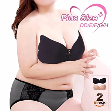 cf16356d9ed Gorgeous Pixels Plus Size Backless Bra Self Adhesive Silicone Strapless  Invisible Bra