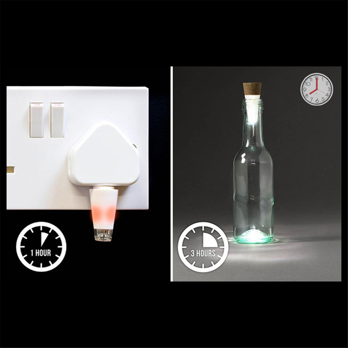 LED Cork Bottle Lights, USB Powered Rechargeable, 12 Lumen Mood Lights Copper Wire String Starry LED Lights for DIY, Home Kitchen, Wedding, Halloween, Christmas, Party Decor (3PCS White)