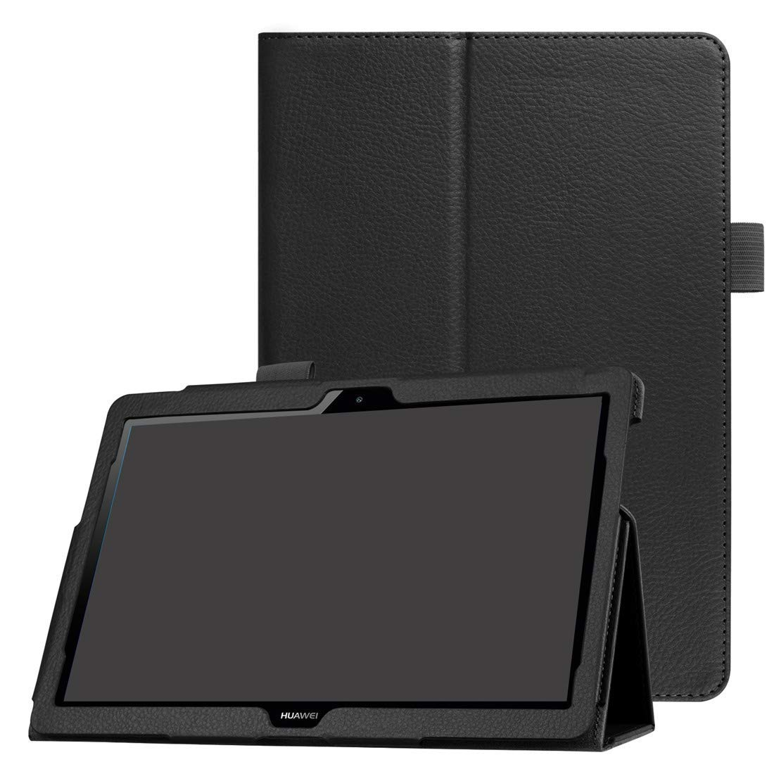 9.6 Leeboss Huawei MediaPad T3 10 Case Huawei T3 10 9.6 Inch Tablet Case Slim Lightweight Smart Shell with Stand Protective Cover for Huawei MediaPad T3 10 - Black
