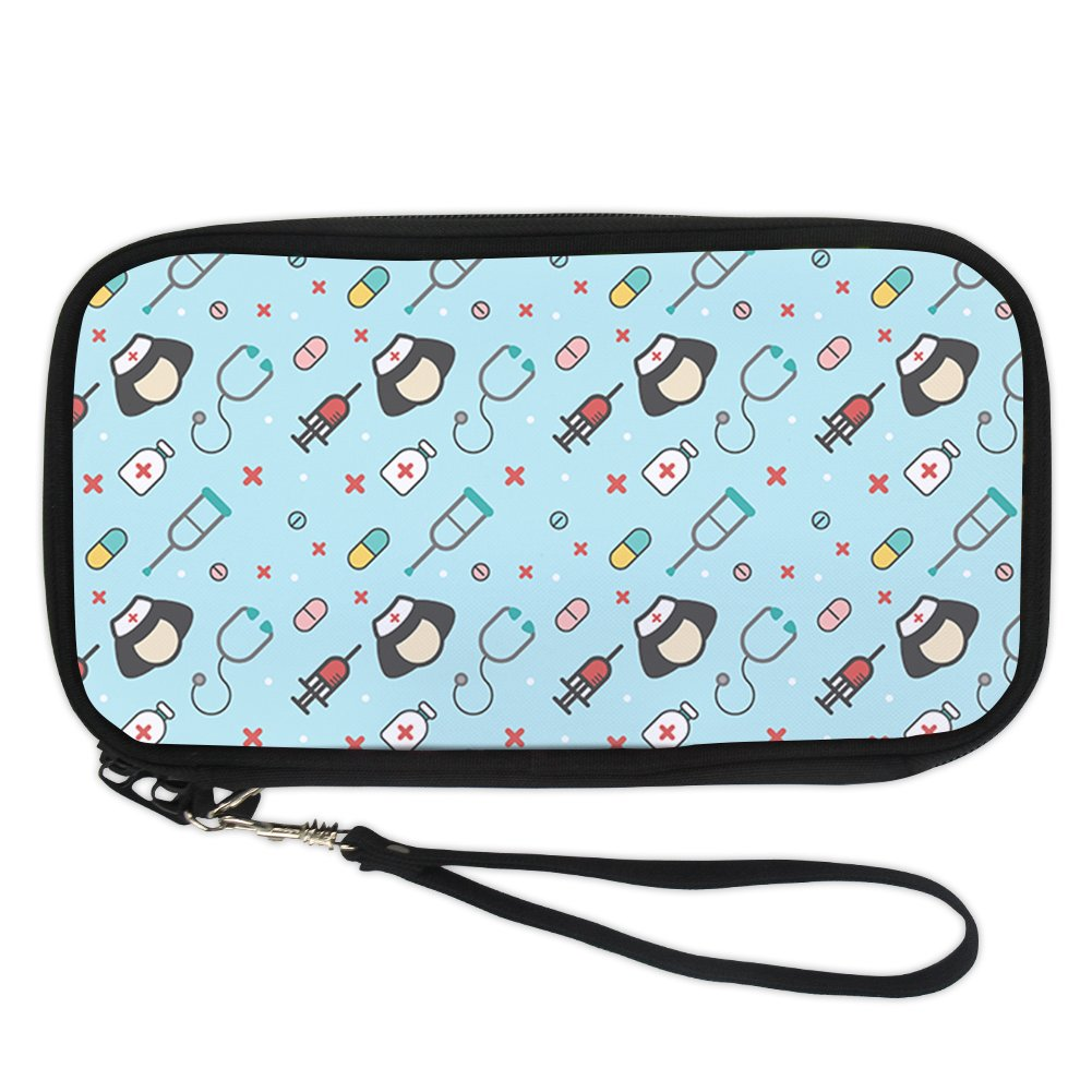 doginthehole Medical Style Casual Passport Holder Purse Women Travel Pouch Wallet