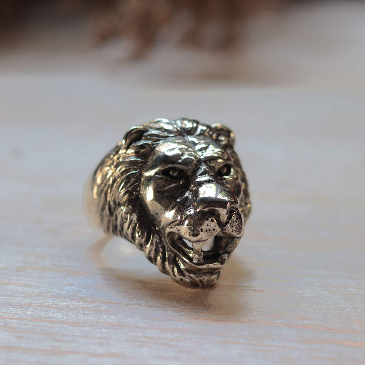 Details about  /LION RING RASTA LION LION ZIRCONIA STONES SILVER RING 925 REAL SILVER JEWELRY