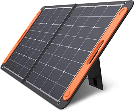 side facing jackery solarSaga 100 w portable solar panel