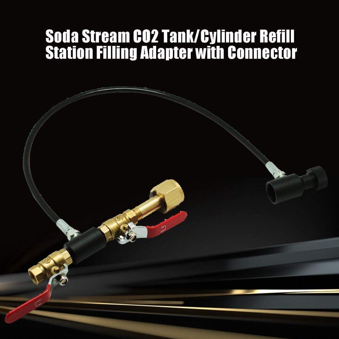 Qingchul Soda Stream CO2 Tank//Zylinder Nachf/üllstation F/ülladapter mit Stecker