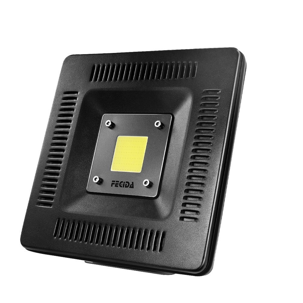50W LED Flood Light Outdoor, IP67 Waterproof, 250W Halogen Bulb Equivalent, 4000Lm Daylight White, Brightest Security Light, Aluminum Case, Corrosion Protection, Floodlight Trailer Trucks (Black)