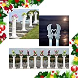 Adorox (53'' in - 2 Columns) Decorative Plastic Wedding Event Column Adjustable Height and Holds Flower Plate