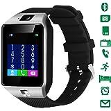 CHEREEKI Smartwatch Bluetooth Smartphone Uhr 4cm Touchscreen Armbanduhr unterstützt eigene SIM Karte und 32G Micro-SD-Karte mit Schrittzähler & Kamera für Android Smartphones
