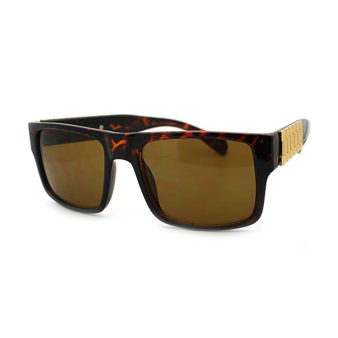 Amazon.com: Plaza rectangular anteojos de sol reloj de lujo ...