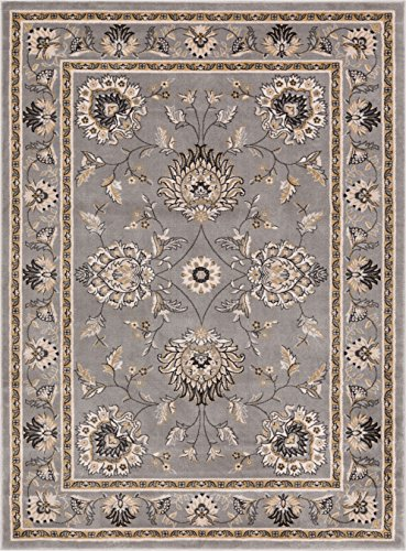 12x12 Bone (Well Woven 36088 Timeless Abbasi Traditional Persian Oriental Area Rug x, 9'3