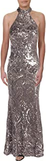 product image for Betsy & Adam Womens Sequined Formal Evening Dress