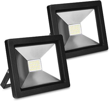 kwmobile 2x Foco proyector LED de exteriores de 20W - Reflector de ...