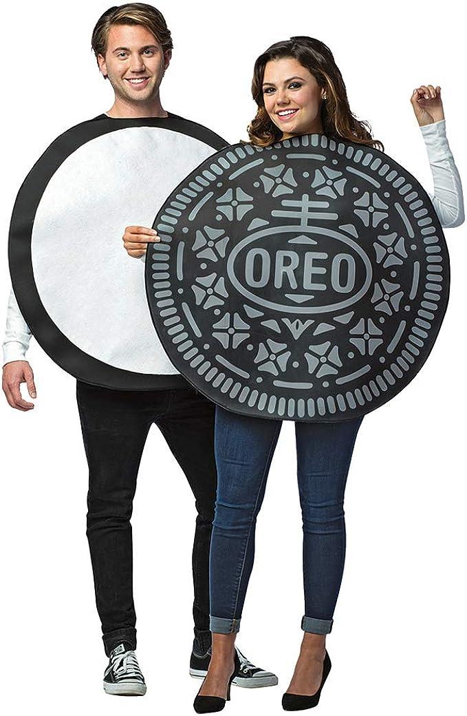 Faerynicethings Adult Size Oreo Cookie Couples Costume - 2 in 1 Package - Foodie Snacks