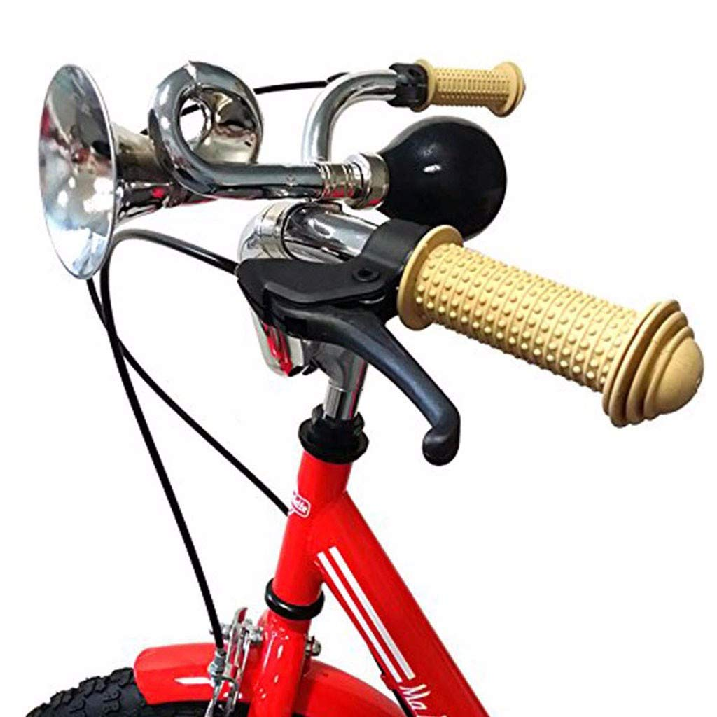 BICYCLE BELL LOUD BIKE CYCLE HOOTER HONKING AIR HORN STEEL PUSH SQUEEZE HANDLE