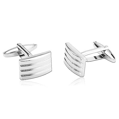 Amazon com: Beydodo Wedding Cufflinks for Men Stainless Steel