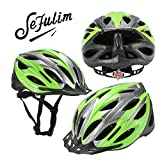 Sefulim Specialized Cycle Helmet Adult Racing Bike Cycling Helmets by Sefulim Adjustable Size for Girls Boys Spectacle-wearers Green
