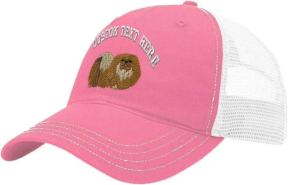 Custom Trucker Hat Richardson Pekingese Embroidery Design Cotton Soft Mesh Cap