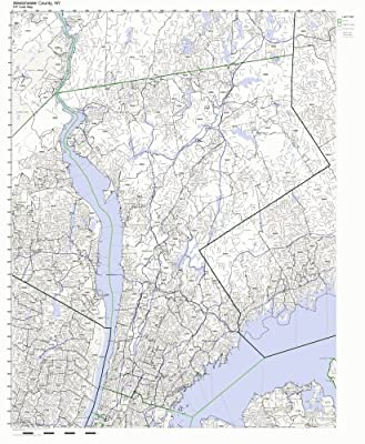 Westchester County, New York NY ZIP Code Map Not Laminated