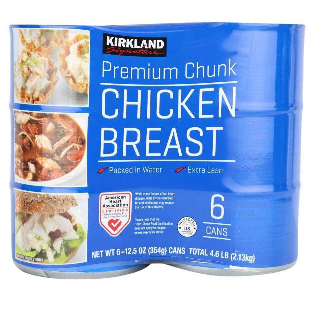 Kirkland Signature Premium Chunk Canned Chicken Breast: 6 Pack (12.5 oz)
