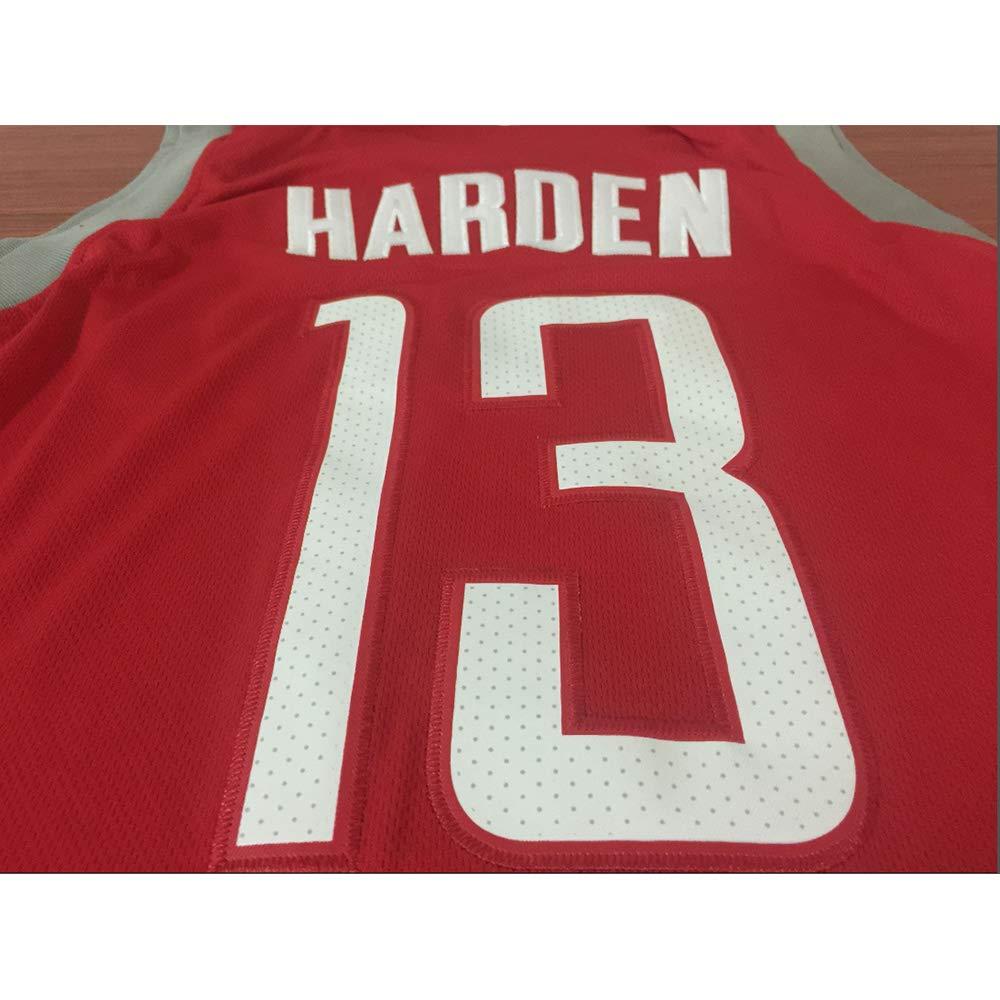 Basketball f/ür M/änner und Unisex Basket Anzug T-Shirt Gen/ähte Buchstaben Zahlen Schwarz-S Houston Jersey EMUQL Houston Harden # 13 Trikot Klassisches /ärmelloses Set