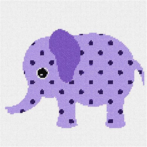 (pepita Purple Elephant Needlepoint)