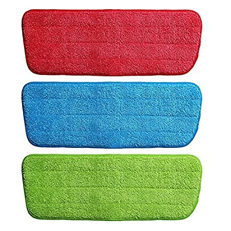 Sevias Replacement Microfiber Spray Mop Pads Refill Cloth Heads Pads Microfiber Mop Cleaning Pads for Spray Mops Floor Cleaning House Tool (2 Pcs) - (Multi Color)