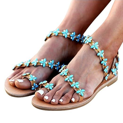 50ae94cc5d3ad Amazon.com: Memela Clearance sale Women's Beaded Sandals Summer ...