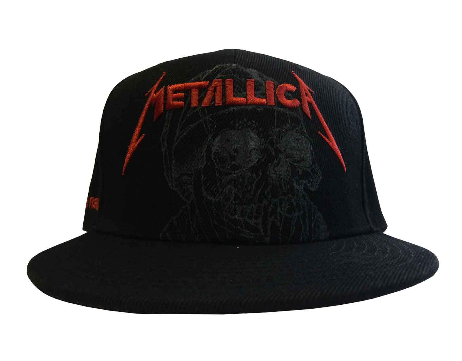 Metallica Snapback Cap One Justice Black