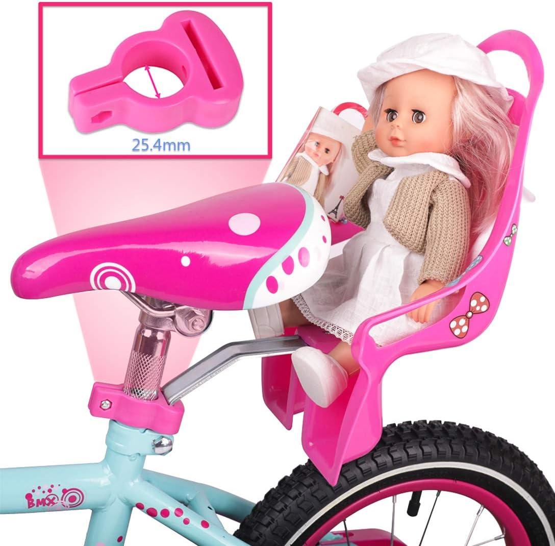 EUSIX Kinderfahrrad Sattelst/ütze Puppensitz Mit Halter F/ür Kinderfahrrad Mit Dekorieren Sie Sich Aufkleber Kinderfahrrad Wind Spinner Und Fahrrad Streamer