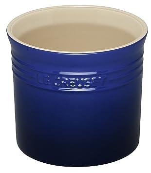 Le Creuset Stoneware Large 2 3/4 Quart Utensil Crock, Blue
