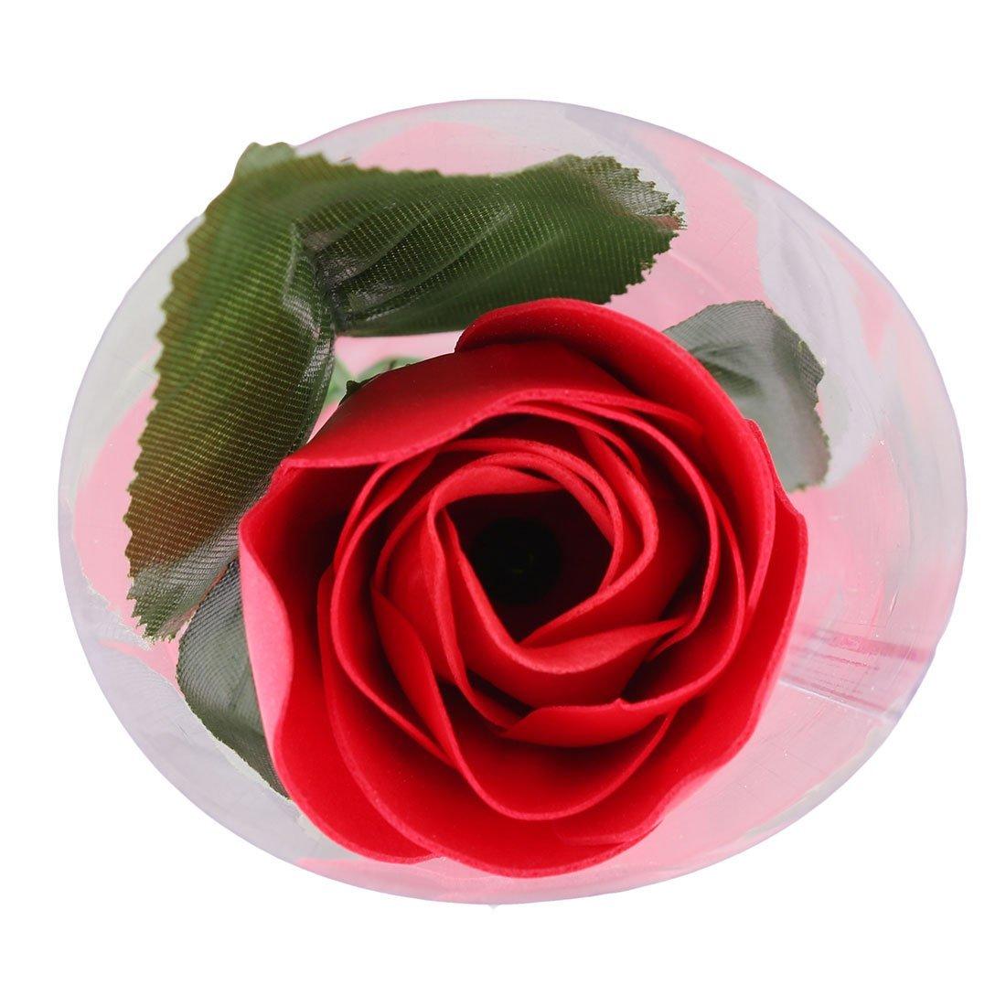 Amazon.com: eDealMax Regalo del Aniversario artificiales de Rose Diseño Baño de jabón pétalo ramo de la Flor roja 2pcs: Home & Kitchen