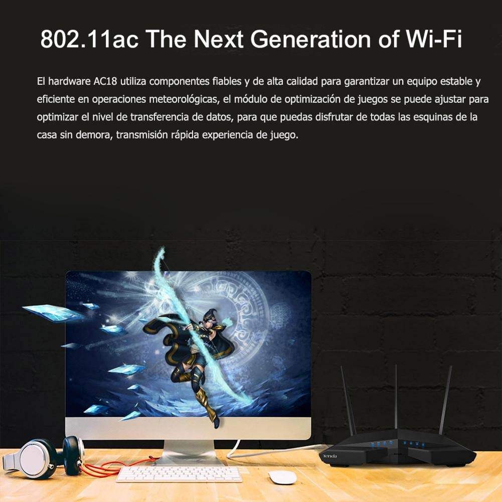 Amazon.com: Occitop Tenda AC18 1900Mbps 2.4GHz/5GHz Dual Band WiFi Router Wireless Repeater: Computers & Accessories