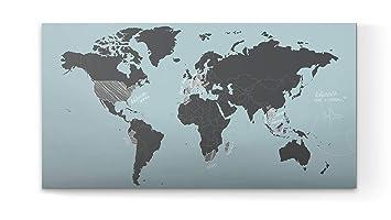 Glasvision Memoboard Weltkarte Eroberer 80 X 40 Cm Weltkarte Aus