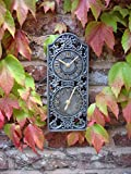 Home and Garden Products Outdoor Clock and Thermometer Pewter Colour Garden Weatherproof