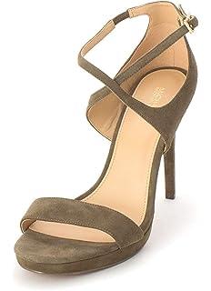 7bf3ec5b918c Michael Michael Kors Womens Faryn Leather Open Toe Casual Strappy Sandals