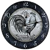Ohio Wholesale Black and White Rooster Clock