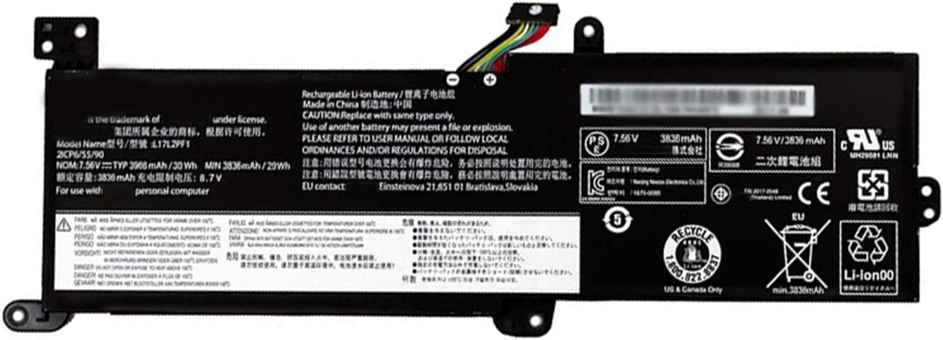 BOWEIRUI L17L2PF1 (7.56V 30Wh 3968mAh) Laptop Battery Replacement for Lenovo Ideapad 330-14IKB 330-15IKB Touch Series Notebook