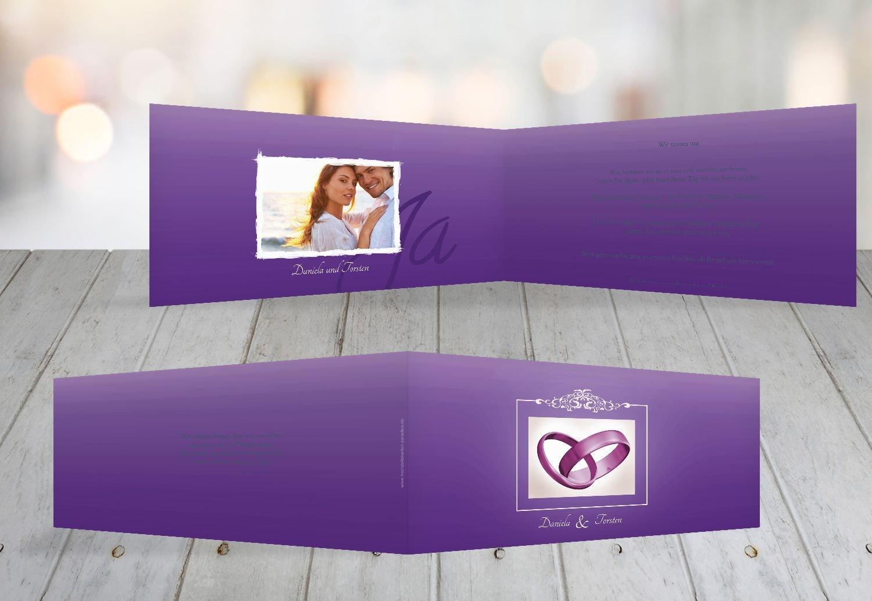 Kartenparadies Hochzeitskarte Hochzeit Einladung Din Ringetausch, hochwertige Einladung zur Heirat inklusive Umschläge   10 Karten - (Format  215x105 mm) Farbe  flamingoOrangerot B01N364KQI | Schenken Sie Ihrem Kind eine glückliche Kindheit  | Spaß