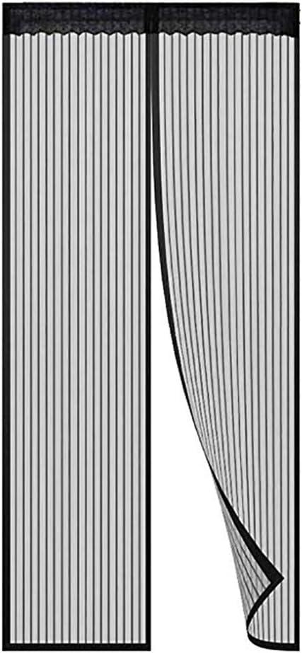 HUTUpc Mosquito magnético Cortina de Puerta con imanes potentes y Full Frame Magic Tape, Puerta Redes de Malla para el balcón corredizas Sala de Estar Cuarto de niños,Negro,85 * 220cm
