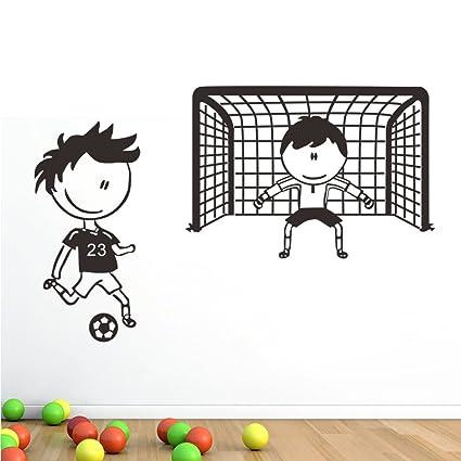 Wallpark Feliz Ninez 2 Nino Jugando Futbol Desmontable Pegatinas De