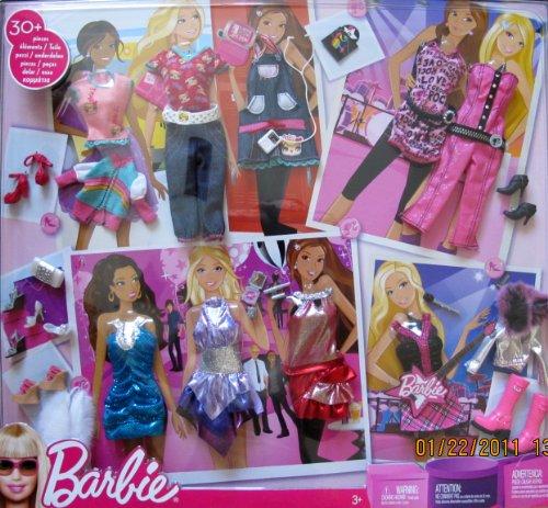 BARBIE FASHION GIFT SET w 30+ FASHIONS & Accessories (2009) by Barbie