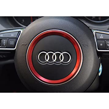 COGEEK Steering Wheel Logo Decorative Circle Cover Trim For Audi A - Audi circle