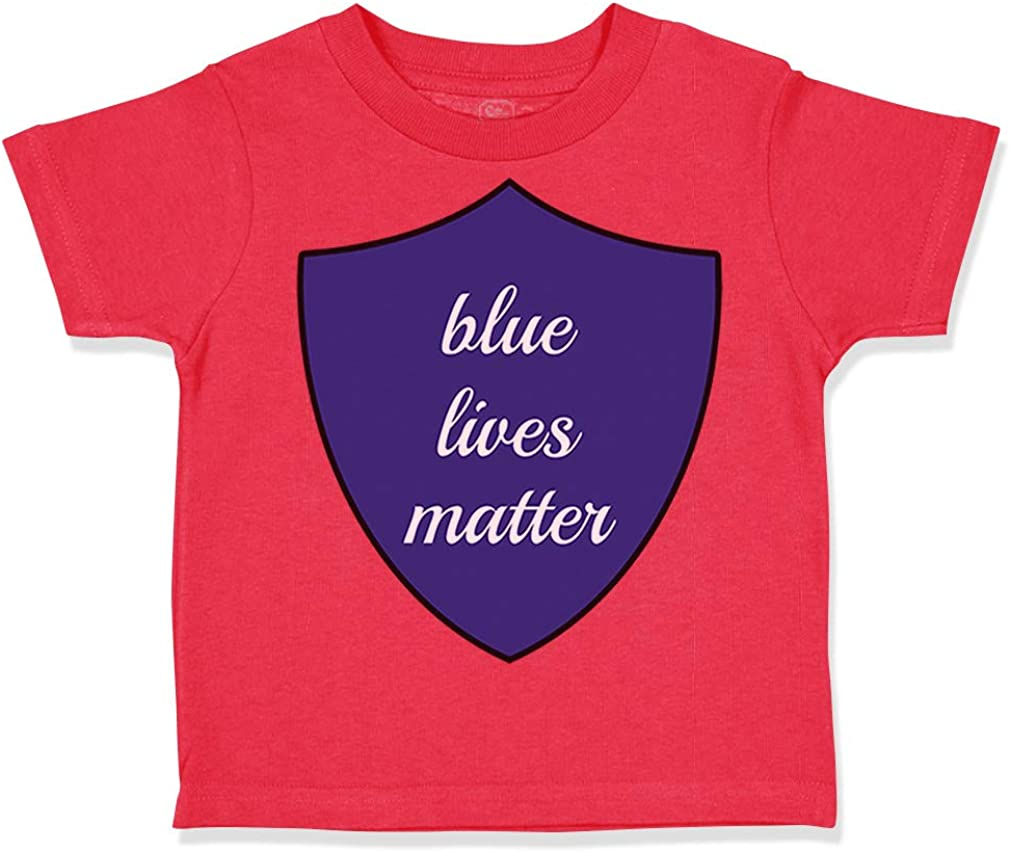 Custom Toddler T-Shirt Blue Lives Matter Style A Police Cop Law Cotton