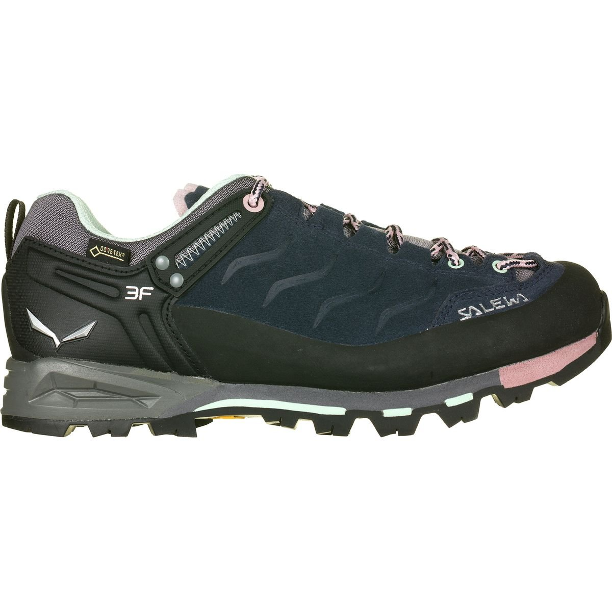 Salewa Womens' WS Mtn Trainer GTX-W, Premium Navy/Subtle Green, 8.5 B(M) US by Salewa