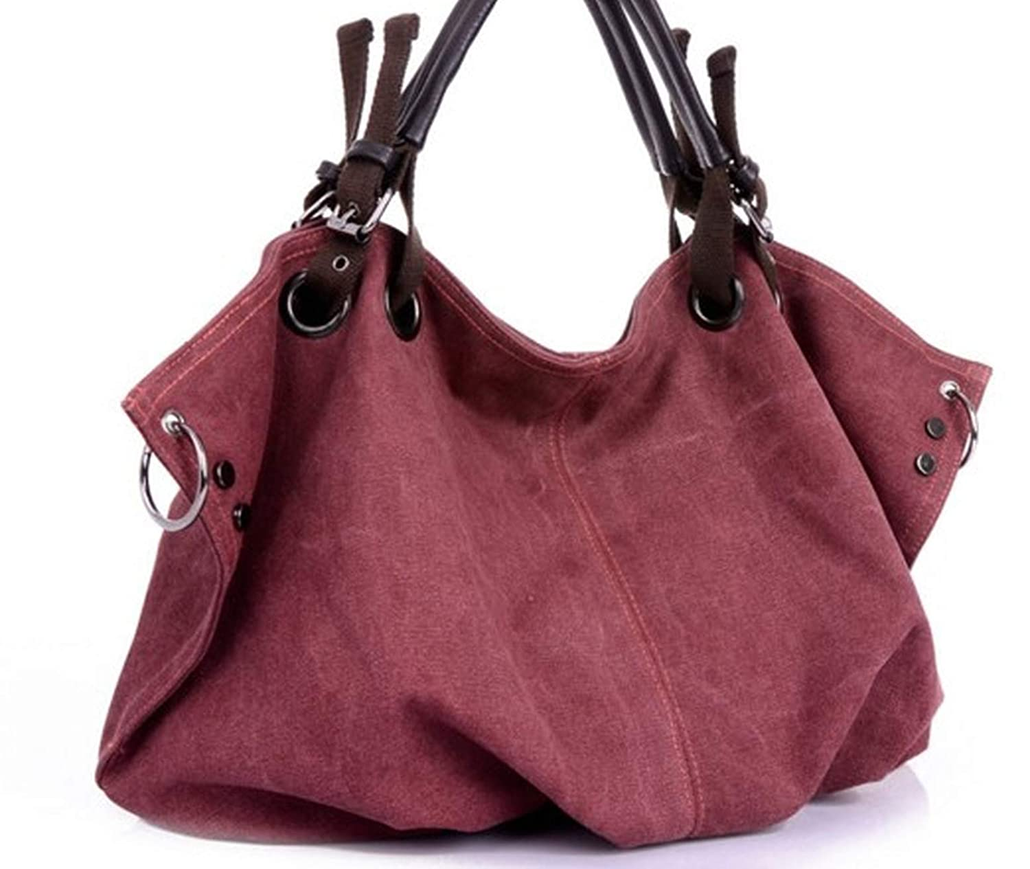 Amazon.com: Women Canvas Messenger Bags Handbags Female Tote ...